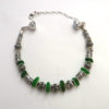 silver and green bracelet 3