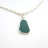 teal sea glass anklet 3