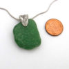 kelly green sea glass necklace 3