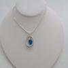 turquoise sea glass parabolic necklace3
