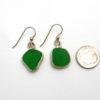 green sea glass earrings 3