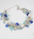 1blue chainmaille bracelet