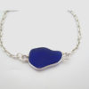 cobalt blue sea glass bracelet 4