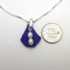 cobalt blue sea glass necklace 3