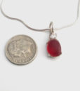 dainty red sea glass necklace3