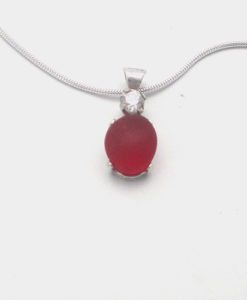 red sea glass necklace with bling_edited-1