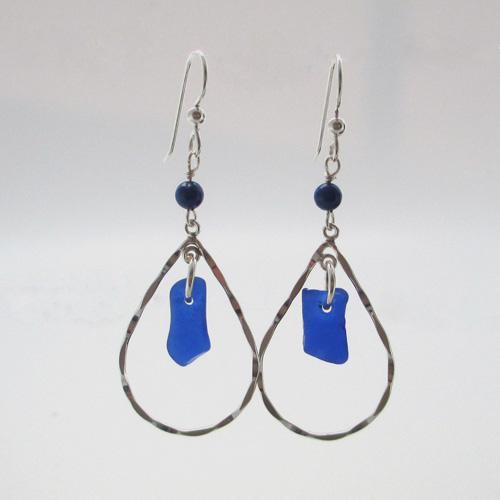 Cobalt Blue Drop Earrings