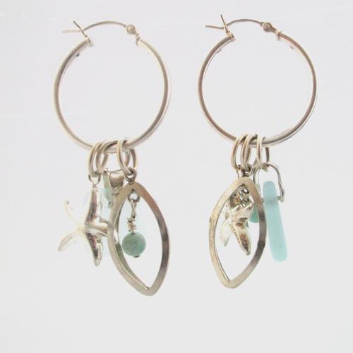 interchangeable sea glass earrings1