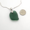 sage green sea glass necklace 3