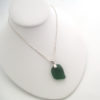sage green sea glass necklace 5