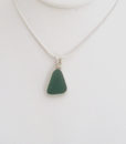 teal green sea glass neckace3