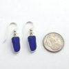 cobalt blue sea glass earrings 2