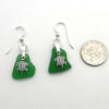 green earrings with turtles 3