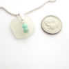 white sea glass necklace with bead 3