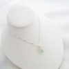 white sea glass necklace with bead 5