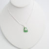 green sea glass necklace 5