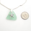 green sea glass necklace with starfish 3