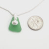 green sea glass necklace3
