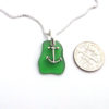 jade green sea glass necklace with anchor 3