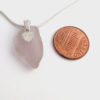 lavender heart sea glass necklace1