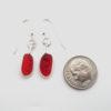 red sea glass earrings 3