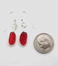 red sea glass earrings 3