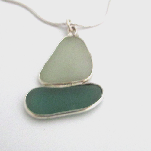 sea glass sailboat necklace 1