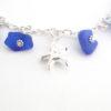 cobalt blue sea glass bracelet 3