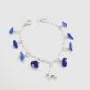 cobalt blue sea glass dangle bracelet 3