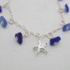 cobalt blue sea glasss dangle bracelet7