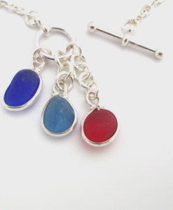 3 piece sea glass necklace