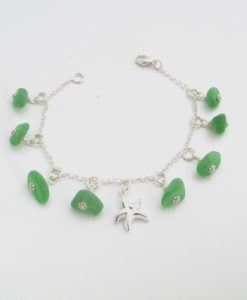green dangle bracelet