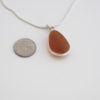 honey colored sea glass necklace