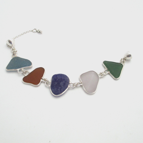 5 piece sea glass bracelet_1
