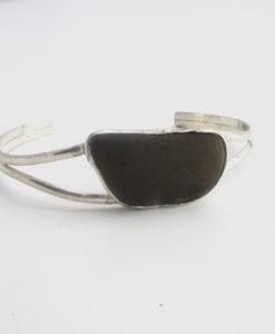 black-sea-glass-cuff-bracelet