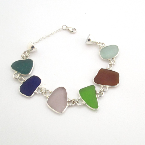 c10f7eba0658f Multi Colored Sea Glass Bracelet