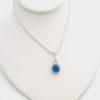 Turquoise sea glass figure 8 necklace 3