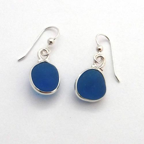 turquoise sea glass earrings 3