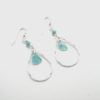turquoise seaglass teardrop earrings1