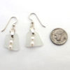 white sea glass earrins 3