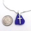 blue sea glass necklace with cross3
