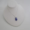 cobalt blue sea glass necklace with cross 5