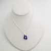 cobalt blue sea glass necklace with turtle 5