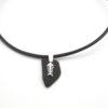 Black sea glass necklace with bonefish 1