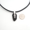 black sea glass necklacd with bonefish 3