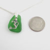 green sea glass necklace with mermaid charm 1