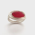 red sea glass ring 1