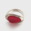 red sea glass ring 3