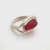 red sea glass rings 9