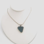 wedge blue sea glass necklace 2